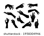 vector collection set of hand... | Shutterstock .eps vector #1958304946