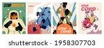 fight with coronavirus concept. ... | Shutterstock .eps vector #1958307703