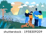 people admiring scenery.... | Shutterstock .eps vector #1958309209