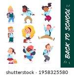 happy school kids characters...   Shutterstock .eps vector #1958325580