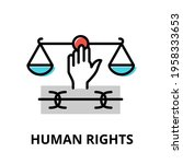 human rights icon concept ... | Shutterstock .eps vector #1958333653