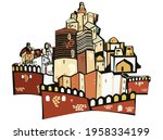 building old city baku...   Shutterstock .eps vector #1958334199