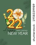 happy new 2022 year party...   Shutterstock .eps vector #1958339989