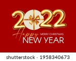 happy new 2022 year party...   Shutterstock .eps vector #1958340673
