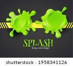 slime and color splash 3d...   Shutterstock .eps vector #1958341126