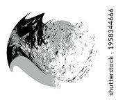 ink splash background . black...   Shutterstock .eps vector #1958344666