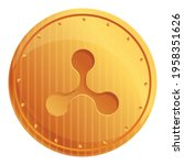 ripple coin cryptocurrency icon.... | Shutterstock .eps vector #1958351626