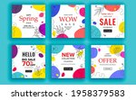 set of sale banner template...   Shutterstock .eps vector #1958379583