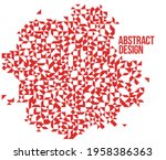 abstract bright red mosaic...   Shutterstock .eps vector #1958386363