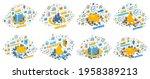 money business and finance...   Shutterstock .eps vector #1958389213