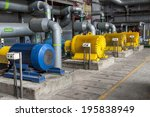 engine room   power station. | Shutterstock . vector #195838949