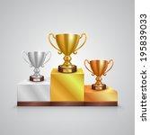 winner cup. vecto   Shutterstock .eps vector #195839033