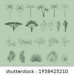 collection of summer boho... | Shutterstock .eps vector #1958425210