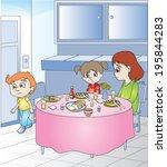 breakfast table | Shutterstock .eps vector #195844283