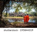 Angkor Wat Monk. Ta Prohm Khmer ...