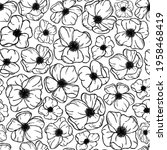 black and white monochrome... | Shutterstock .eps vector #1958468419