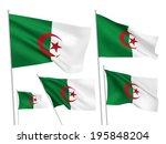 algeria vector flags set. 5... | Shutterstock .eps vector #195848204
