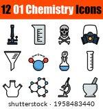 01 chemistry icon set. editable ...