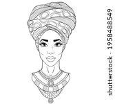 african beauty  full face...   Shutterstock .eps vector #1958488549