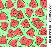 fresh juicy pattern with sweet... | Shutterstock .eps vector #1958501809