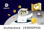 dogecoin to the moon is gme...   Shutterstock .eps vector #1958509930
