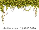 ivy frame. liana branches and...   Shutterstock .eps vector #1958516416