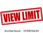 stamp with text view limit... | Shutterstock .eps vector #195853634