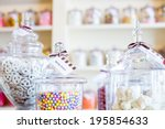 Multicolored Candies On Displa...