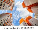 fisheye shot of new apartments... | Shutterstock . vector #195855323