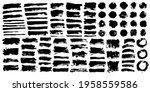 brush strokes bundle. vector... | Shutterstock .eps vector #1958559586