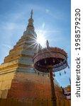 Beautiful Golden Pagoda At Wat...