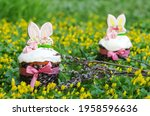 Fresh Tasty Easter Cakes On A...
