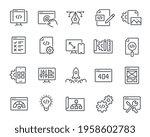 web development icons set. such ...   Shutterstock .eps vector #1958602783