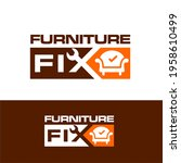 furniture fixing logo design or ... | Shutterstock .eps vector #1958610499