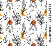 boho seamless pattern with... | Shutterstock .eps vector #1958619853