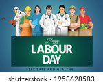 happy labour day or... | Shutterstock .eps vector #1958628583