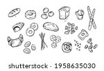 doodle bread products. baked...   Shutterstock .eps vector #1958635030
