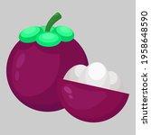 mangosteen flat icon...   Shutterstock .eps vector #1958648590