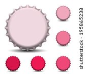 bottle caps vector  | Shutterstock .eps vector #195865238
