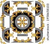 baroque with greek vector... | Shutterstock .eps vector #1958658103