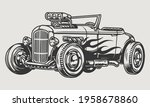 retro hot rod with flame decal... | Shutterstock .eps vector #1958678860