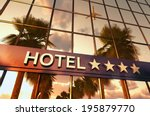 Hotel Sign With Stars  3d...