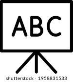 abc chalkboard vector thin line ... | Shutterstock .eps vector #1958831533