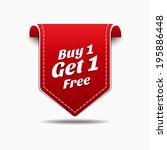 buy 1 get 1 red label icon... | Shutterstock .eps vector #195886448