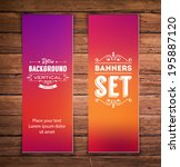 vector vertical banners with... | Shutterstock .eps vector #195887120