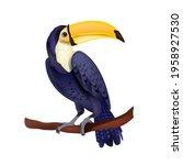 toucan vector illustration ...   Shutterstock .eps vector #1958927530