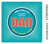 vector of happy fathers day... | Shutterstock .eps vector #195894083