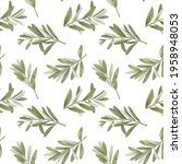 seamless pattern of isolated... | Shutterstock . vector #1958948053