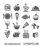 food icons | Shutterstock .eps vector #195895148
