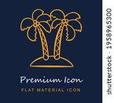 palm trees premium material ui...